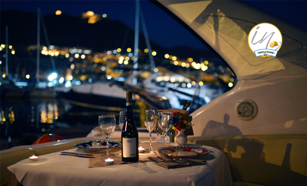 Romantic Dinner On Boat Amalfi Coast